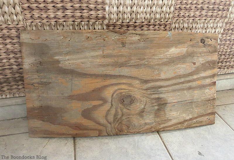 a piece of plywood, Seaside Art from a hidden treasure in the dresser / www.theboondocksblog.com