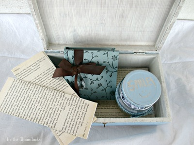 painted box with items for gift
