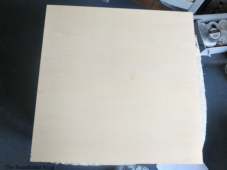 Plain piece of plywood.