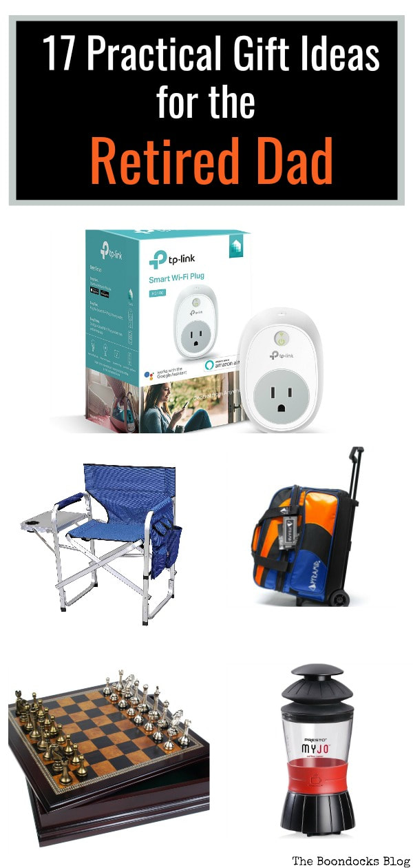 Retired fathers should get Father's Day gifts that are suited to their tastes. Here are 17 practical gift ideas for your retired father. #fathersday #retireddads #carenthusiasts #gardeners #seniorcitizens #woodworkers #essentialgifts #fishermen #practicalgiftideas 17 Practical Father's Day Gift Ideas for the Retired Dad www.theboondocksblog.com