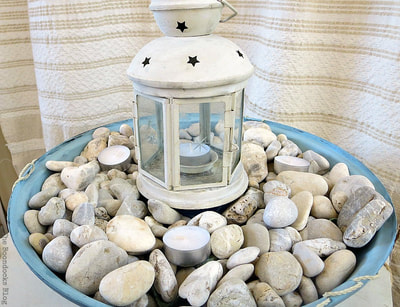 Nautical Lantern with Pebbles