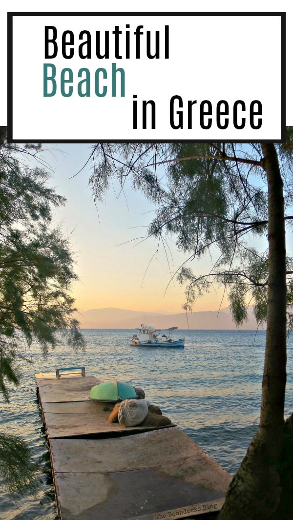 Photo essay looking at the beach in Greece with very different views and how to edit a photo to get a different look, #photography #photoessay #beach #Greece #Travel #sunsetinGreece #Fishingboats A different look at the beach in Beautiful Greece www.theboondocksblog.com