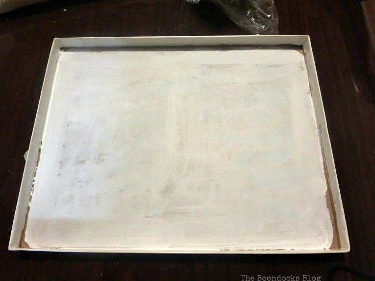chalky finish painted box top, How to Give your Old Table a New Look with Stencils, the boondocksblog.com