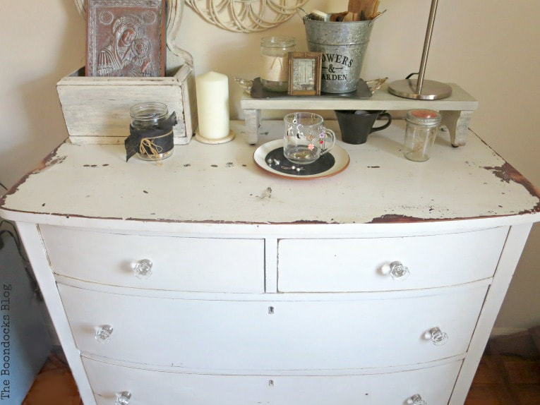 Dresser After, How to Make your Dresser Sparkle with Age www.theboondocksblog.com