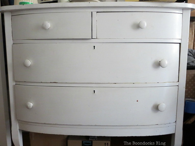Dresser before, How to Make your Dresser Sparkle with Age www.theboondocksblog.com