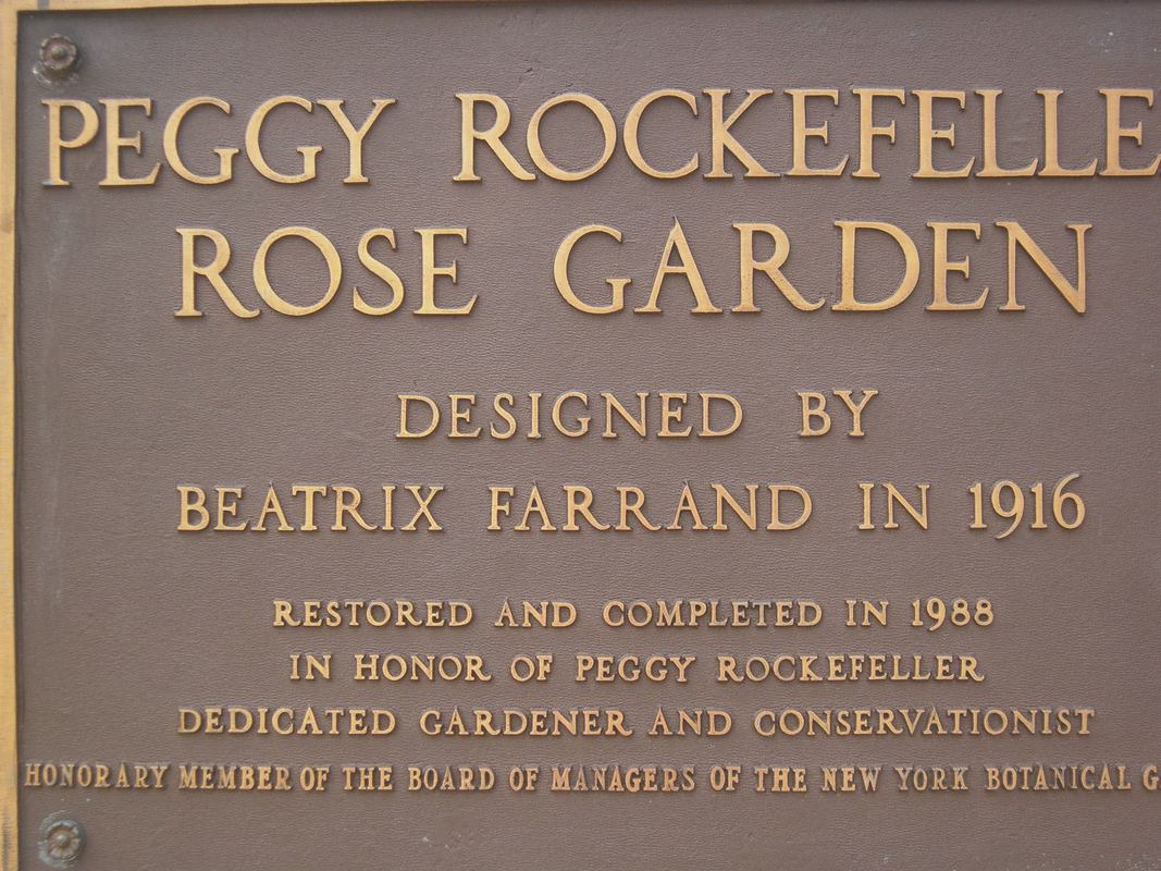 plaque, The Peggy Rockefeller Rose Garden: one of the best in the world www.theboondocksblog.com