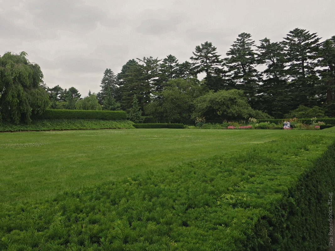 Green lawn with hedge, A Visit to the Remarkable Enid A. Haupt Conservatory www.theboondocksblog.com