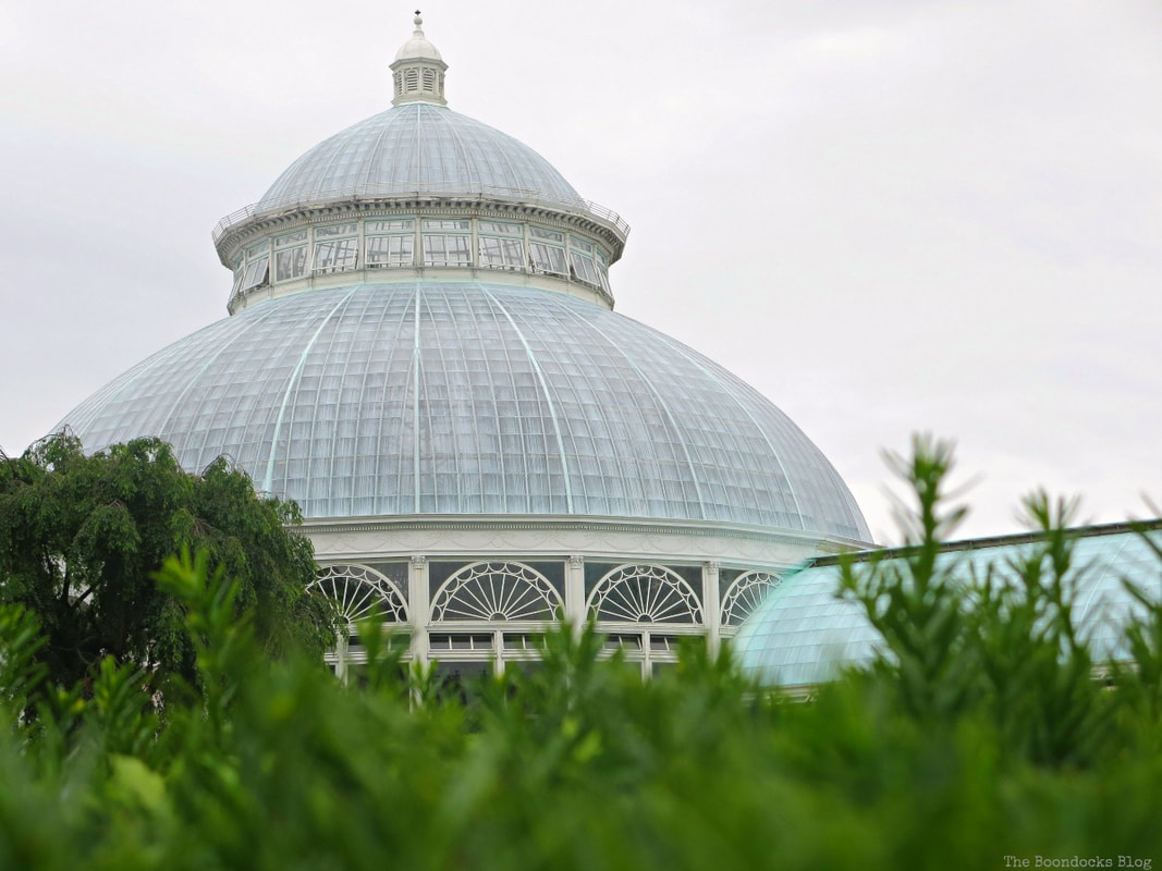 Conservatory dome, A Visit to the Remarkable Enid A. Haupt Conservatory www.theboondocksblog.com