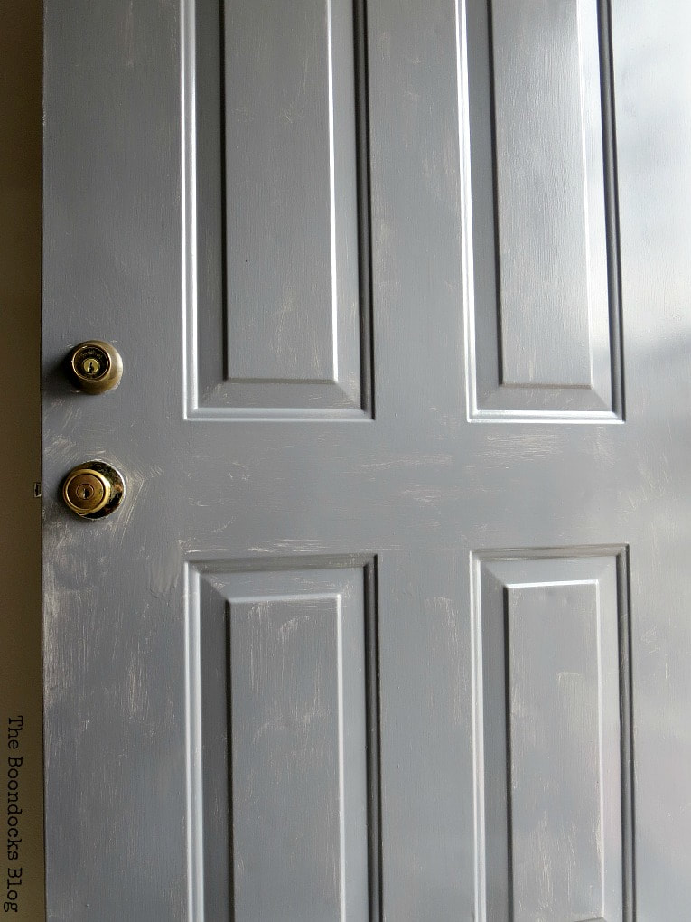 After first coat of paint, How to Paint your Front Door for a Sturdy Finish www.theboondocksblog.com