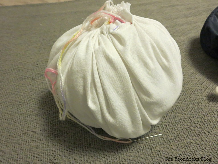 Stuffed pumpkin shape, How to Fail Miserably at Gnome Making www.theboondocksblog.com