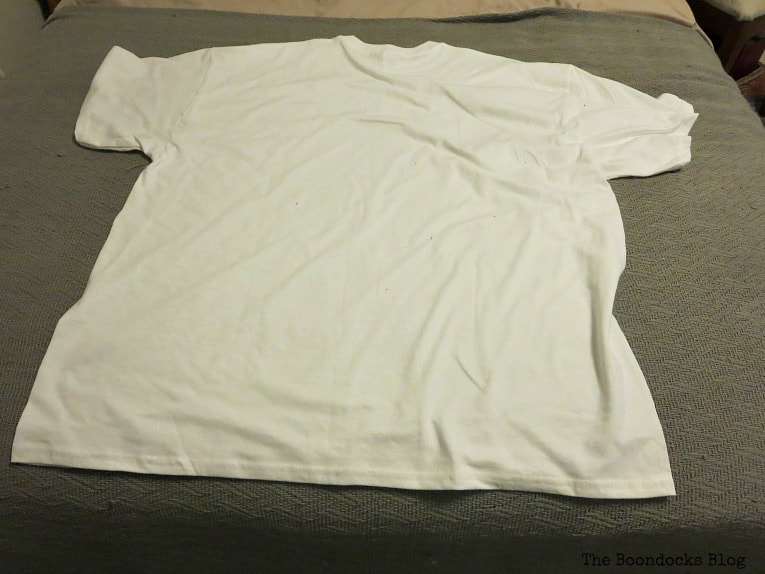 white t-shirt, How to Fail Miserably at Gnome Making www.theboondocksblog.com