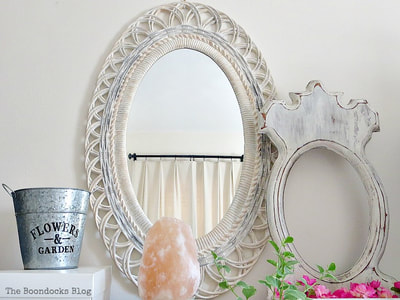 Plastic mirror painted
