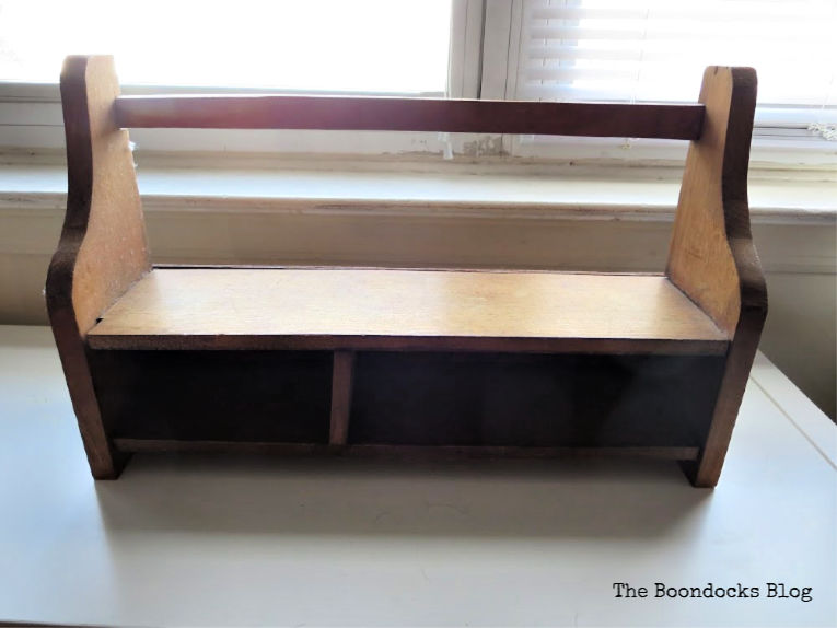 wall mounted wood shelf before, A Super Easy Way to Add Shimmer to a Shelf, theboondocksblog