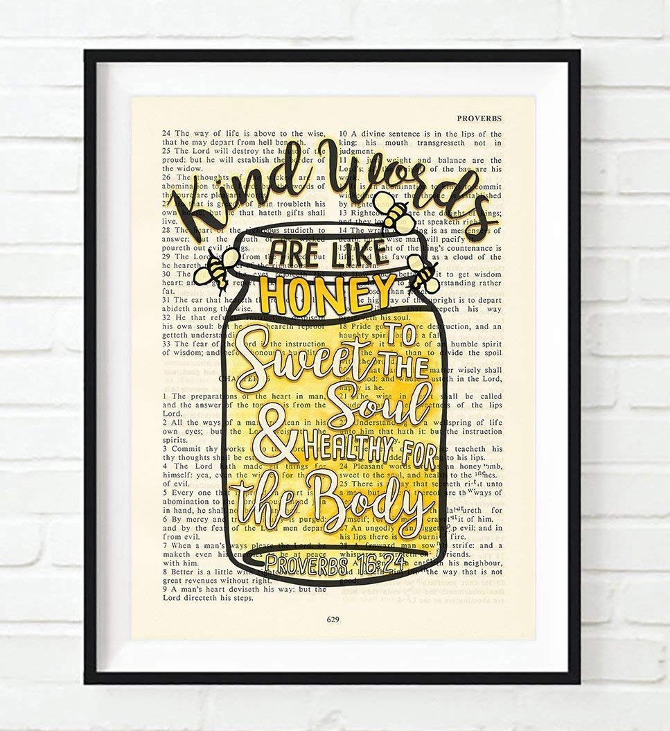 Home decor poster with Bible Verse, Ten Amazing Hand-Made Gifts for $10 and Under www.theboondocksblog.com