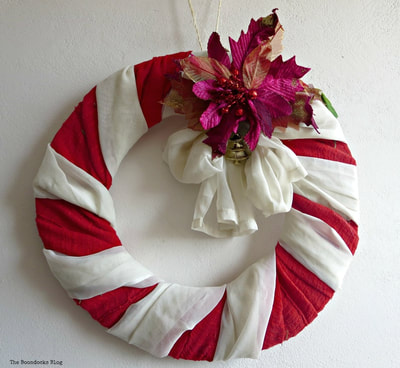 Red and white wreath for Christmas