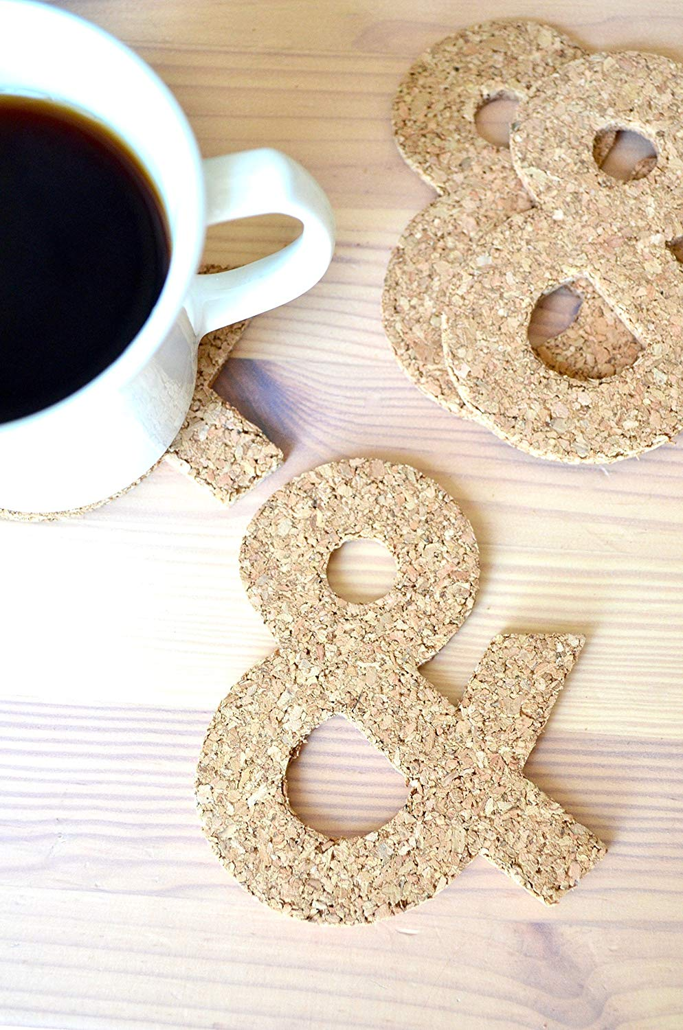 Cork ampersand coasters, Ten Amazing Hand-Made Gifts for $10 and Under www.theboondocksblog.com
