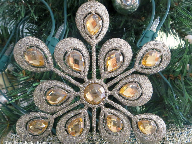 glitter and jewel ornament, It's all About the Sparkle of the Christmas Tree www.theboondocksblog.com