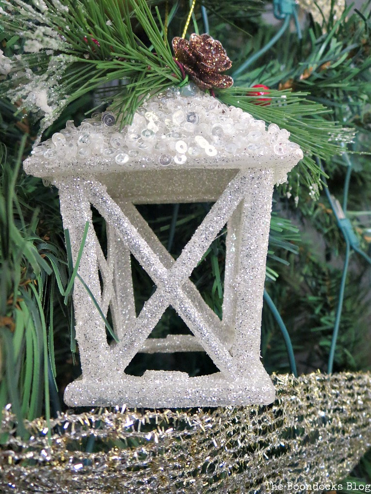 White glitter candle house, It's all About the Sparkle of the Christmas Tree www.theboondocksblog.com