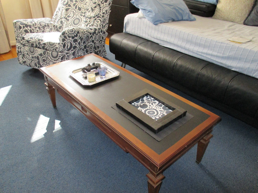 Old Coffee Table Before, How to Re-Invent your Old Coffee Table With Paint www.theboondocksblog.com