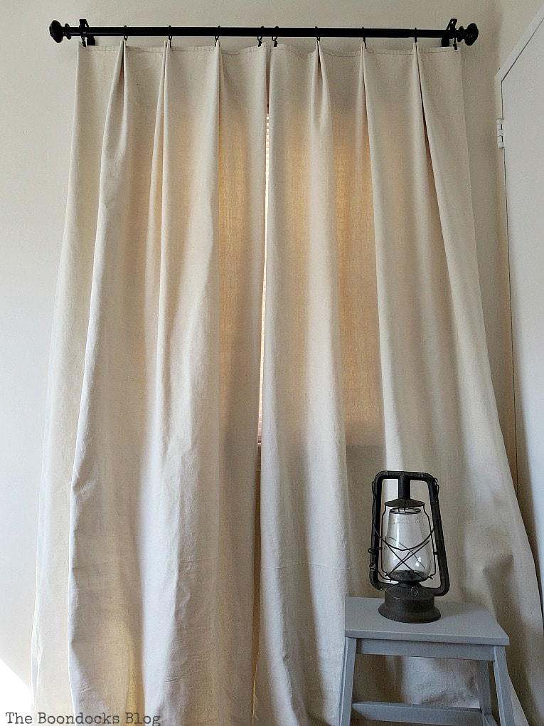 Pleated drop cloth curtains, The Most Popular Posts for 2018 www.theboondocksblog.com