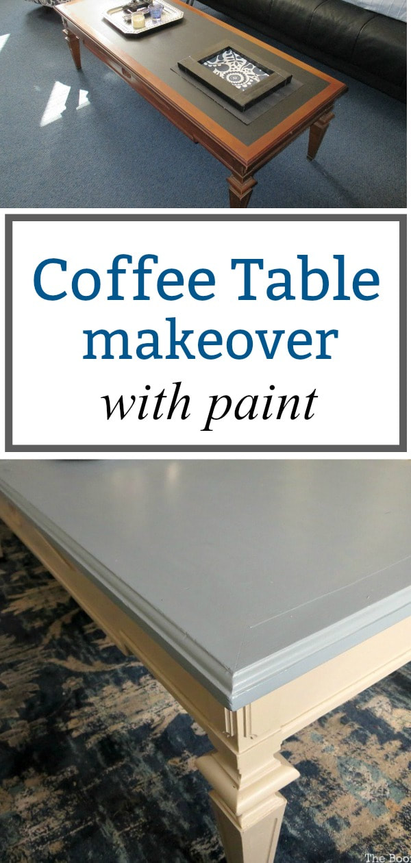 Coffee Table Makeover using Satin Enamel Paints, #furnituremakeover #DecoArtmedia #woodtable #Upcycle #SatinEnamelpaint #cozylivingroom #decorating How to Re-Invent your Old Coffee Table With Paint www.theboondocksblog.com