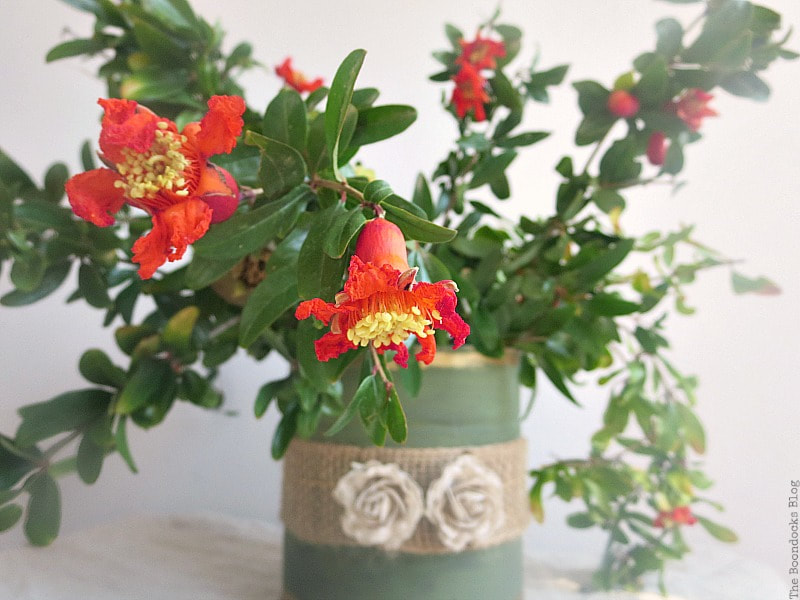 Repurposed tin can into a vase, The Most Popular Posts for 2018 www.theboondocksblog.com