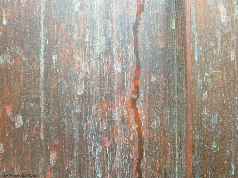 Rusty patina of the facade of building, A monumental Surprise at Hudson Square in New York, www.theboondocksblog.com