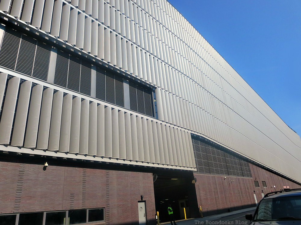 NYSanitation Dept Garage building, A monumental Surprise at Hudson Square in New York, www.theboondocksblog.com