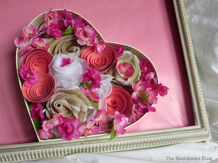 Heart shaped Box with flowers