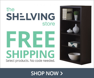 FREE SHIPPING on select products at TheShelvingStore.com, no code needed.