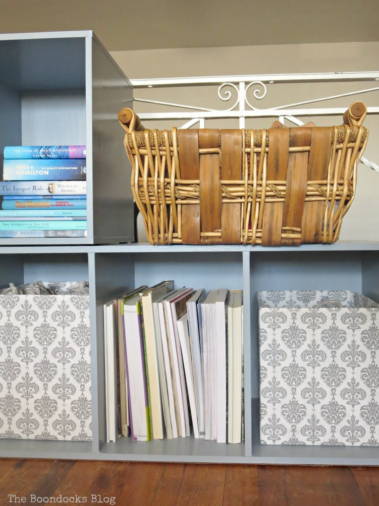 basket on top of cubby storage unit, #laminatefurniture #furnituremakeover #furniture #paintedfurniture #storage #laminatecubbystorageunit #easytutorial How to Repaint Cubby Storage Units the Easy Way www.theboondocksblog.com