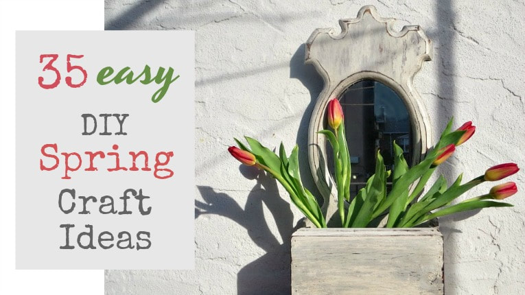 35 easy DIY Spring Craft Ideas including wreaths, planters, tablescapes, wind chimes, centerpieces, wall art, 35 Easy Spring Ideas to Inspire You www.theboondocksblog.com