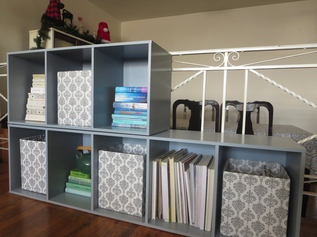 The finished cubby storage units, How to Repaint Cubby Storage Units the Easy Way www.theboondocksblog.com