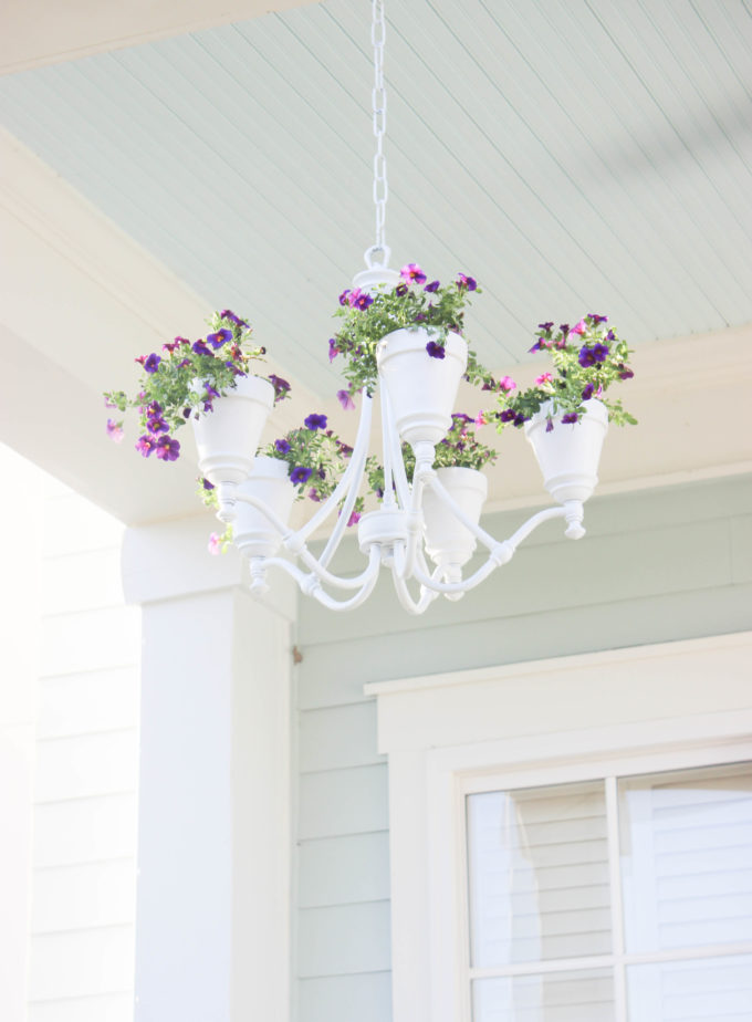 Garden chandelier, 35 Easy Spring Ideas to Inspire You www.theboondocksblog.com