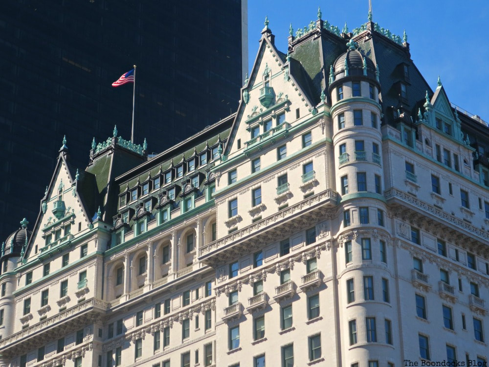 The Plaza Hotel, Looking Up at Luxurious Buildings in Manhattan www.theboondocksblog.com