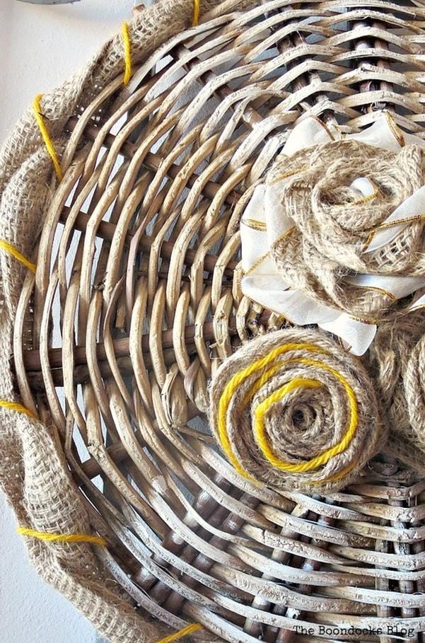 basket bottom as wall decor