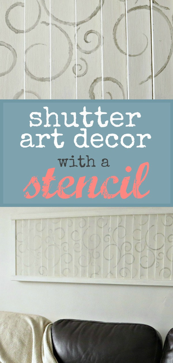 Stenciling shutters and how to avoid making mistakes, #shutterart #stenciledshutter #chalkyfinishpaint #DecoArtMedia #Upcycle #repurposed #DIYArt #Stenciledswirls How to Make Shutter Art with a Stencil the Wrong Way www.theboondocksblog.com