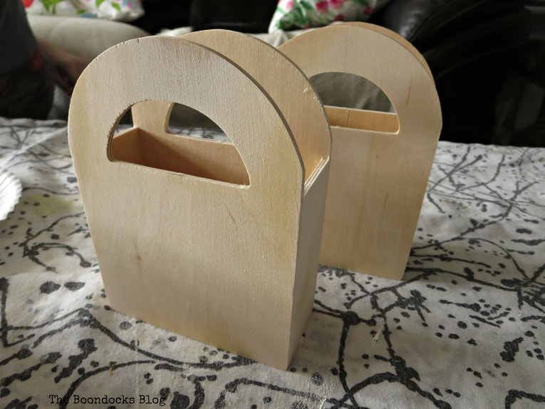 2 unpainted wood gift bags, Gift Giving with Pretty Wooden Gift Bags www.theboondocksblog.com