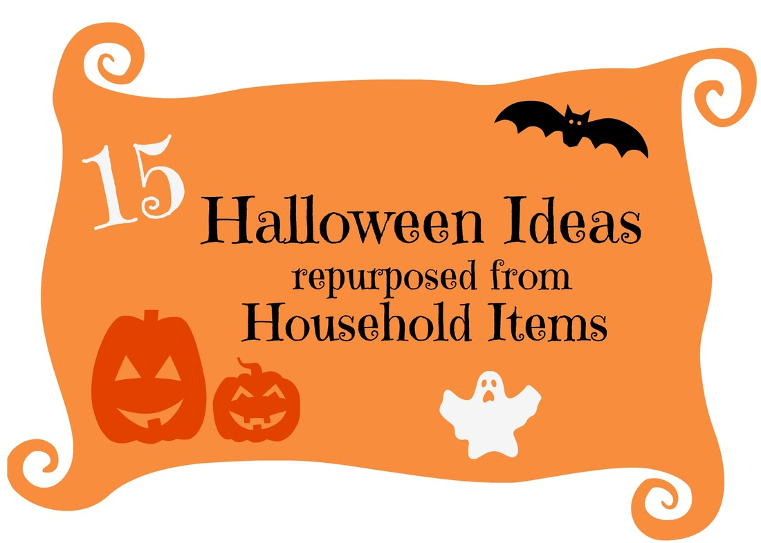 Header 15 Household Items Re-purposed for Halloween Decor www.theboondocksblog.com
