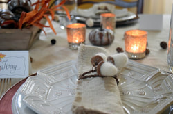 Nourish and Nestle felt acorn napkin rings, 12 Colorful ways to help you prepare for Thanksgiving www.theboondocksblog.com