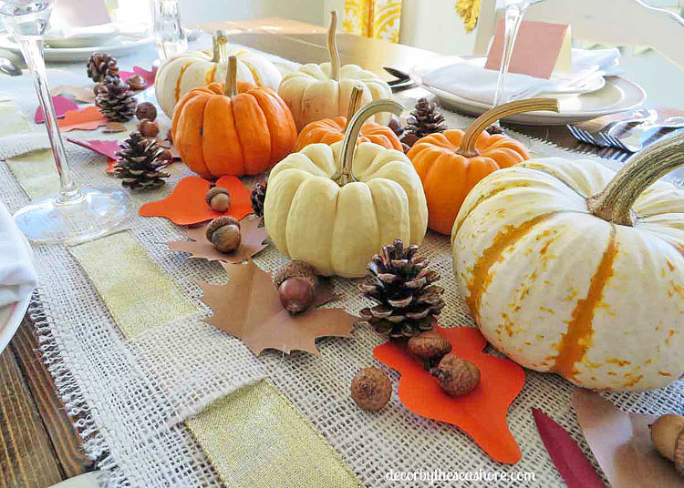 Decor by the Seashore Thanksgiving Table, 12 Colorful ways to help you prepare for Thanksgiving www.theboondocksblog.com
