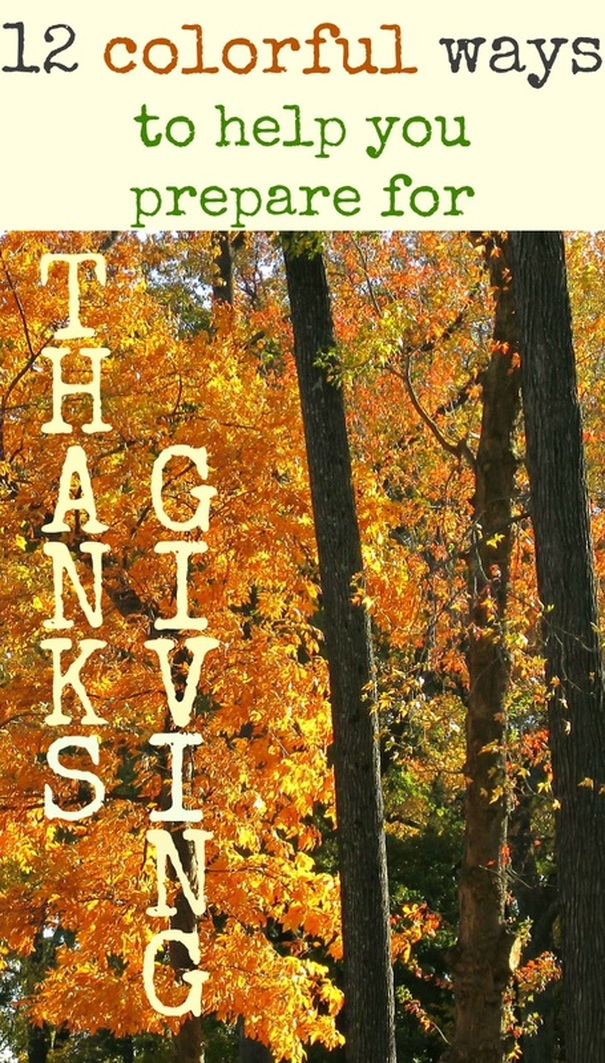 Tips and ideas for a colorful Thanksgiving, #thanksgiving #thanksgivingideas #funthanksgiving #thanksgivingdecor #thriftythanksgivingdecor #thanksgivingkidprojects #easythanksgivingideas 12 Colorful ways to help you prepare for Thanksgiving www.theboondocksblog.com