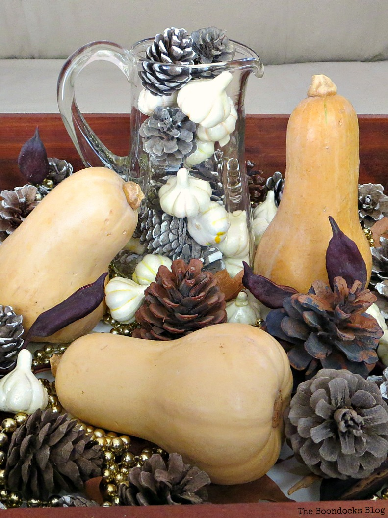 Faux Fall Vignette, 12 Colorful ways to help you prepare for Thanksgiving www.theboondocksblog.com