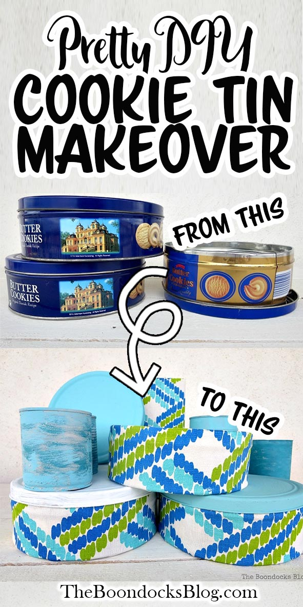 Wondering what to do with old cookie tins? This simple cookie tin craft idea is a great way to repurpose tin cans and use up scrap fabric at the same time! #upcyled #upcycling