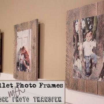 Pallet photo frames.