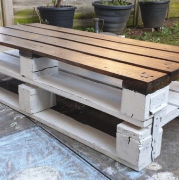 Pallet wood coffee table.