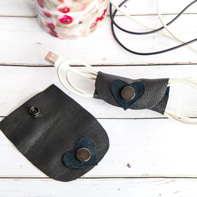 leather cord organizer.